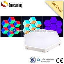 3D beehive disco led ceiling panel light as to be decoration device