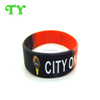 wholesale segment two color silicone bracelet with logo