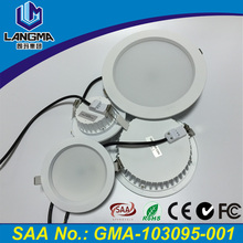 Langma SAA approved HV driverless super slim led panel light 90mm cut out dimmable recessed led ceiling light 10w 12w 15w