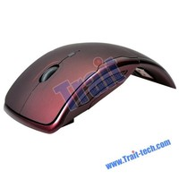 Mini 2.4 GHz Wireless Optical Rex Mouse-Brown, Buttons Wireless USB 2.0 Receiver Gaming Game Mouse Mice for PC Laptop