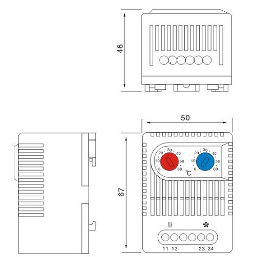 dual thermostat zr011