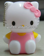 New arrival hellokitty figurine pen with keychain