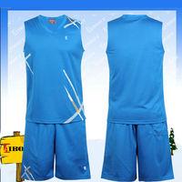 BKB-002-5 digital print basketball jersey color blue