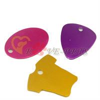 V1088 Fashion Design Aluminum Material Mix Shape 2.5*4CM Cat Pet Dog Tag Drop Shipping Factory Produce Wholesale Price