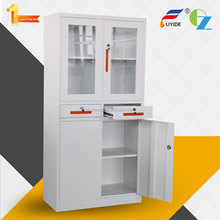 Hot sale patent handle modern closet shool storage steel cupboard locker with 2 drawers