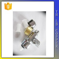 """Quarter-turn Ball Valve, 1/2"""" Female Threaded Inlet 3/8"""" OD Compression Outlet Angle Stop Valve"""