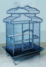 Rolling Macaw Dome Top Cage Parrot Bird House Large Grille Drawer Perch New