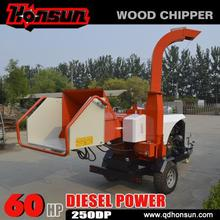 Trailer mounted mobile 8 inch wood chipper machine