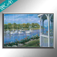 Modern paintings art hand-painted beautiful seaside seascape oil painting on canvas