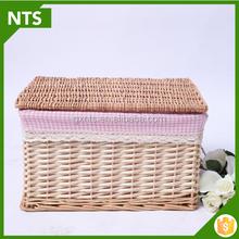 Foursquare Willo Storage Box Native Wicker Basket