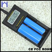 LCD universal intelligent AA/AAA Ni-MH / Li-ion 9v battery charger
