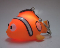 Custom 3D animal design keychain, PVC keychain toy