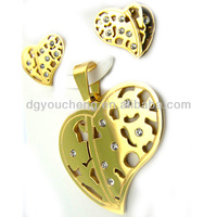 18k Gold Plated Cheap Leaf Jewelry Sets