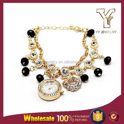 Crystal Linked Chains Energy Watch Bracelet