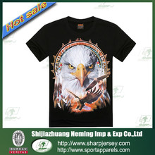 2015 fashion factory price OEM 3D printing t-shirt