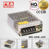 Hot sell MS-50 SMPS 50W 24v 2.1a AD/DC LED driver