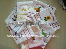 100% bordadas de algodón toalla de cocina