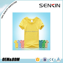Children Clothing Factory Custom Blank Promotional Crew Neck T shirt Wholesale Kids T shirt