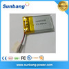 Factory supply 063035 3.7v 600mah lipo battery rechargeable li-ion battery 3.7v 600mah with safety assured