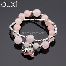 OUXI New arrival women's fashion wholesale cheap stone silver jewelry