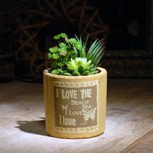 Hot sales yellow terracotta pot ceramic round pot tropical plants pot