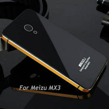 """for Meizu MX3 5.1"""" Hightest Quality Back Cover Case for Meizu MX3 Luxurious series tempered glass cover for MX3"""
