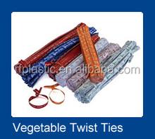 a prueba de agua vegetal nombre y número de plu de papel impreso lazo de torcedura