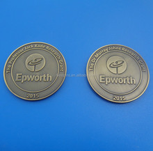 New arrived 2015 brass souvenir challenge coin / personalize round metal coin