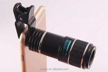 Poplar Universal 8X Optical Zoom Telescope Camera Lens Clip Mobile Phone Telescope for mobile phone