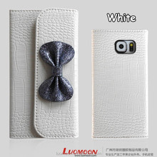 Genuine leather Grain Phone Cover Case For Samsung Galaxy S5 S6