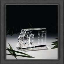Chinese style crystal crafts crystal award for catering gift promotion