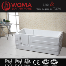 Q375 square walk in tub shower combo for old and disable people