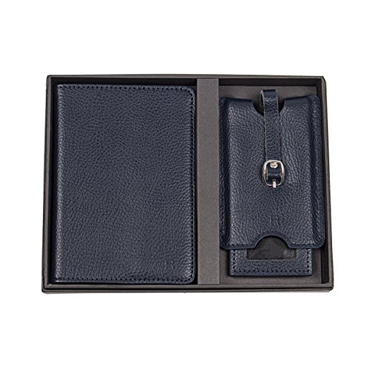 Personalized Leather Passport Holder And Luggage Tag Set (3).jpg