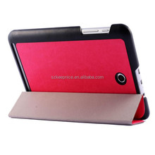 Wholesale Crazy horse stria folding tablet leather cover case for Acer A1-840