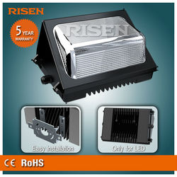 Factory Price AC90-277V MEANWELL Driver/ LED 70W IP65 Wall Pack Lights 3000-6500K 5 Years warranty