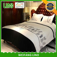 luxury duvet black and white bedding set embroider bedcover