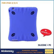 Wholesale 3 in 1 Detachable stripe leather case for ipad 4