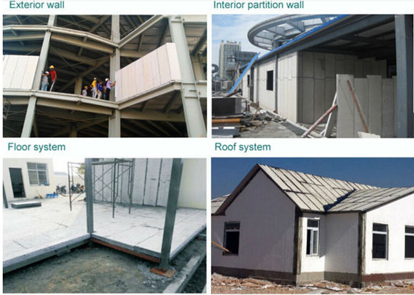 precast light weight anti-quake eps cement sandwich wall partition board