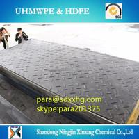 Plastic High Density Polyethylene temporary roadways plates