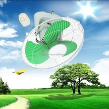 hot sale 16 inch 12v 24v 36v solar dc fan orbit wall fan