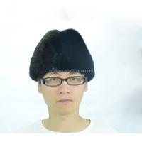 Real animal fur top /mink fur cap/ Genuine mink fur hat for men