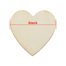 "2"" Heart Shapes Unfinished Wood laser cut for Creating Painted /Decorated/ Craft Projects"