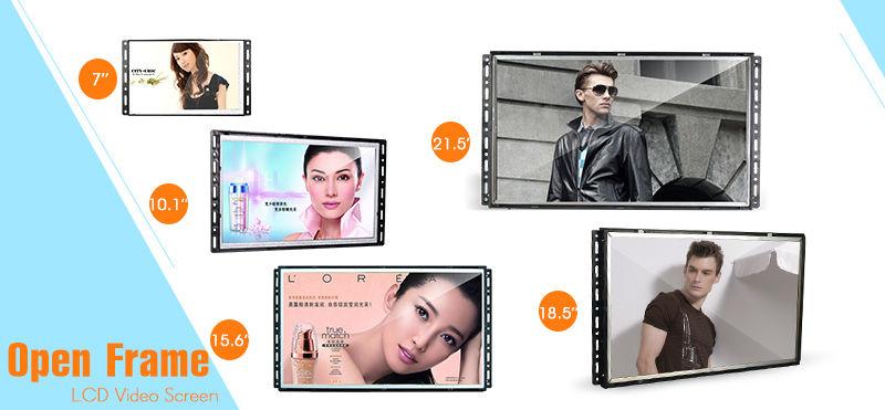 Open frame digital signage optional size