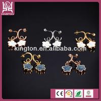 2 gram beautiful flower designed crystal gold earring
