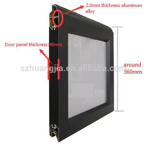 Automatic Fireproof Aluminum Frame Glass Panel Sliding Rolling Down ...