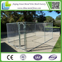 metal high tensile wire chain link fence dog kennels