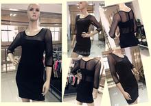 2015 temperament long section of Girls Female summer dress In sleeve ladies Small freshc ommuter Slim Department of Korean summe