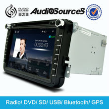 Audiosources 2 din head unit car dvd player for Vw and Skoda with canbus