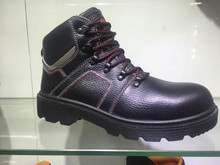 steel toe cap man safety shoe with rubber outsole