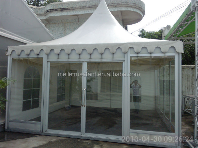 Cheap glass wall trade show exhibition pagoda tents in for for Cheap wall tents for sale